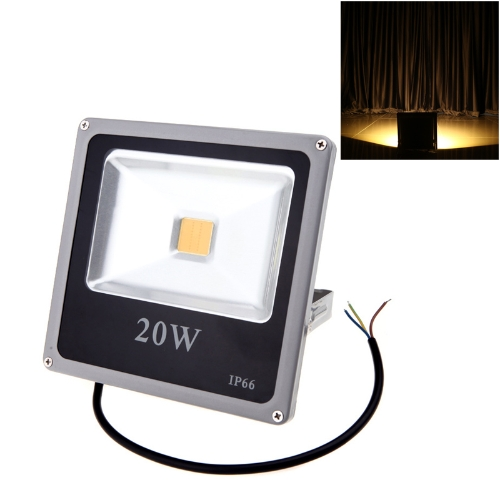 Ultrathin 20W 110-250V LED Spot Light Waterproof Outdoor Flood Lamp IP66 Warm White