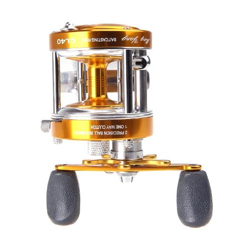 Completamente in metallo 2 + 1BB Ball cuscinetti destra mano tamburo ruota barca mare pesca mulinello orizzontale CL40 Golden