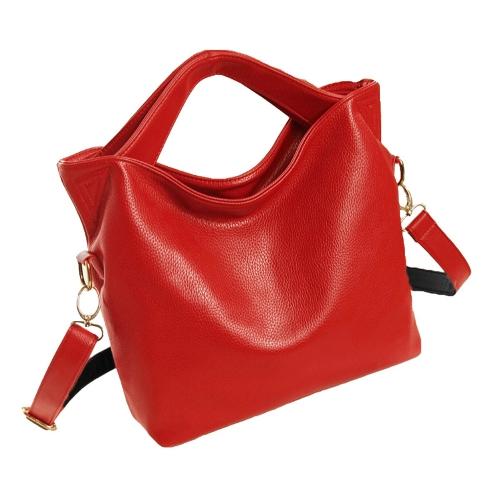 Nueva moda mujer bolso especial doble manijas superiores breve bandolera Messenger bolsa rojo