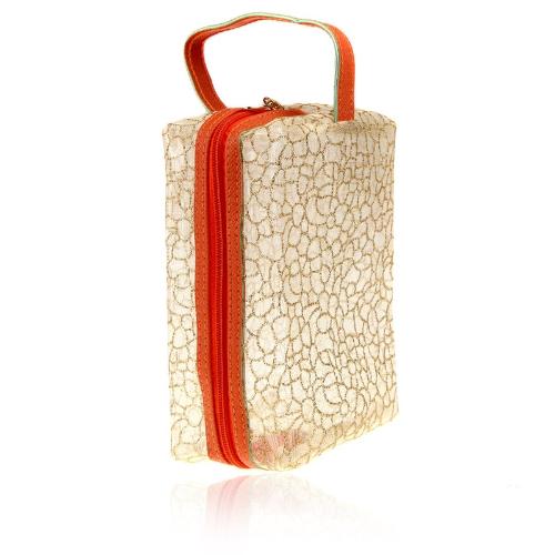 Kosmetyki Make Up Bag Translucent Pojemnik Etui torebka Sunbag Fluorescent jasnożółta