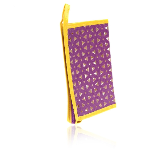 Cosmética maquillaje lavado translúcido envase bolsa bolso púrpura