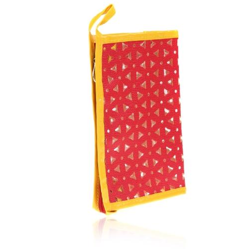 Cosmética maquillaje lavado bolsa contenedor bolsa bolso rojo