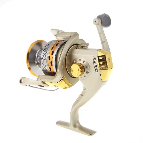 6BB cuscinetti intercambiabile destra o sinistra maniglia pieghevole pesca Spinning Reel SG7000A 5.1:1 d'oro