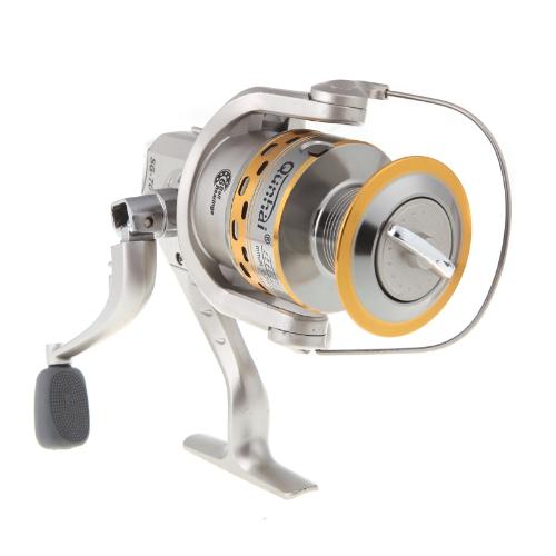 6BB ボール ベアリング左/右交換折りたたみハンドル釣りスピニング リール SG7000A 8 + 1 銀色