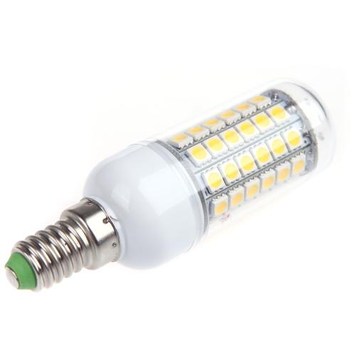 E14 лампы свет лампы привело кукурузы 69 5050 SMD 6.5W теплый белый 230V