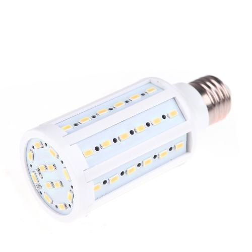 E27 12W 5730 SMD 60 привело кукурузы колбы лампы энергосберегающие теплый белый свет 360 градусов (220)