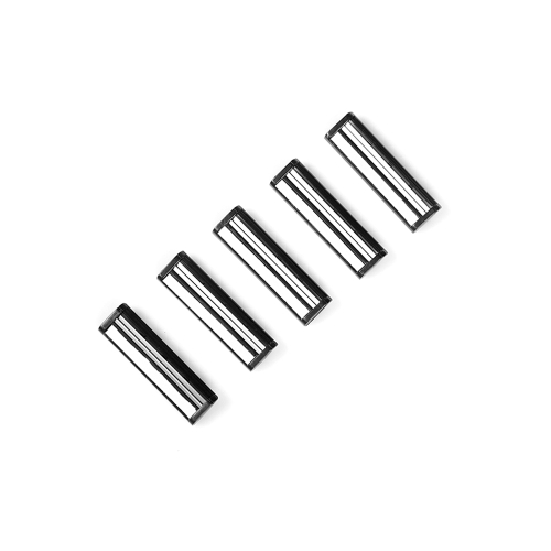 5pcs Shaving Razor Blade Cartridges Head for Men Stainless Steel Twin Blades Lubricating Strip