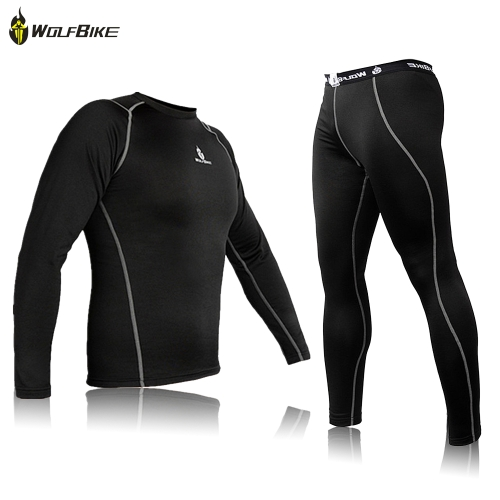 Cycling Jersey Shirt Bike Bicycle Baselayer Underwear Suit Long Sleeve Jersey Winter Sports Clothes
