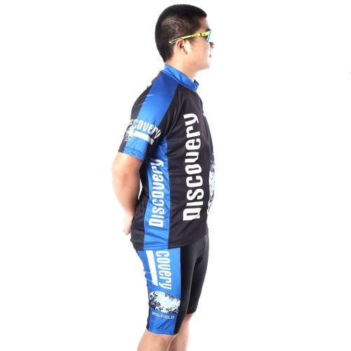 サイクリング自転車自転車屋外ジャージー + 乗馬服ズボン通気性ショート パンツ