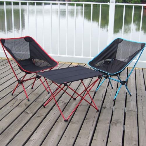 Mesa Plegable portátil  Mesa campestre Escritorio para para acampar al aire libre amping y jardín de la comida o jugar las cartas de 7075 de la aleación de aluminio ultraligera