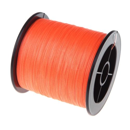 500 M 30 LB 0.26 mm 釣り線編組強い PE 4 ストランド オレンジ