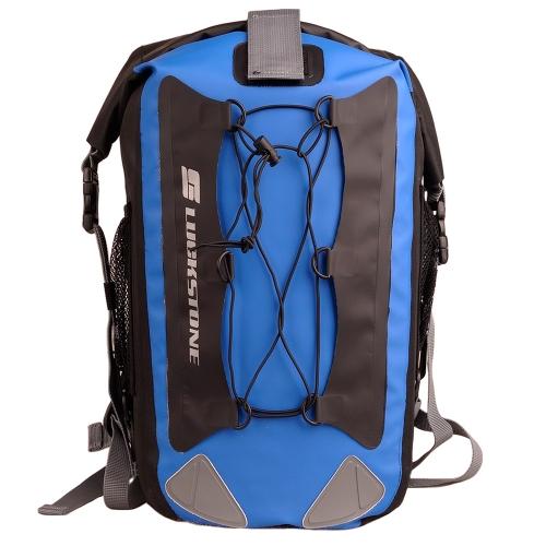 Открытый водонепроницаемый рюкзак сумка рафтинг рыбалка Пешие прогулки, Велоспорт для мобильного телефона камеры черный & синий