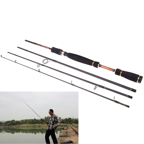 Portable Polo de Pesca Tackle 2.1M 6.89FT  Lure Carbon Fiber Spinning Vara señuelo