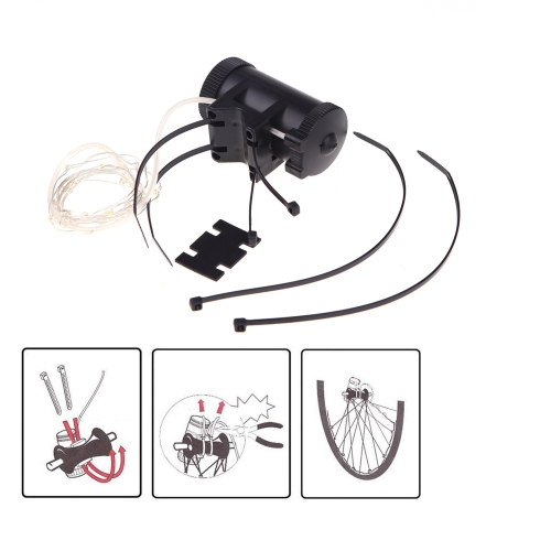 18 LED Colorful Bicycle Bike Cycling Wheel Spoke Flash Light 2m String Wire Lamp