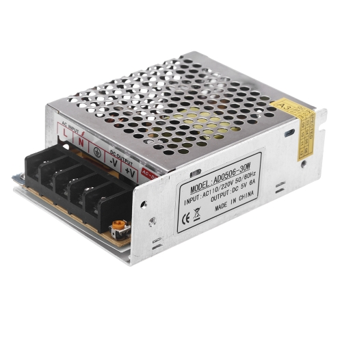 AC 100V ~ 240V DC 5V 6A 30W напряжения трансформатора питания коммутатора для светодиодные полосы