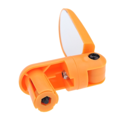 MTB Bike Bicycle Cycling Mirror Mini Handlebar Glass Adjustable Rearview Yellow Image