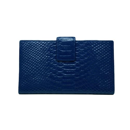 Moda mujer cuero genuino bolso cocodrilo patrón Color caramelo embrague bolso cartera azul
