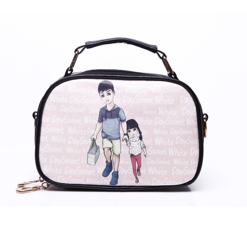 New Cute Women Girl Shoulder Bag PU Leather Colorful Print Messenger Bag Daddy & Girl