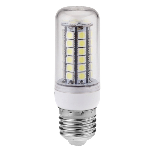 Transprent Cover LED Corn Light Bulb Lamp E27 48 5050 SMD 5W White