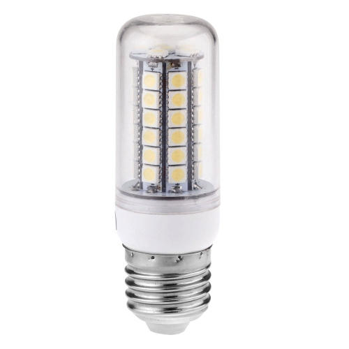 Transprent Cover LED Corn Light Bulb Lamp E27 48 5050 SMD 5W 230V Warm White