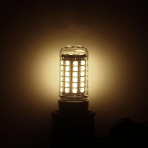 Transparent Cover LED Corn Light Bulb Lamp E27 69 5050 SMD 6.5W 230V Warm White
