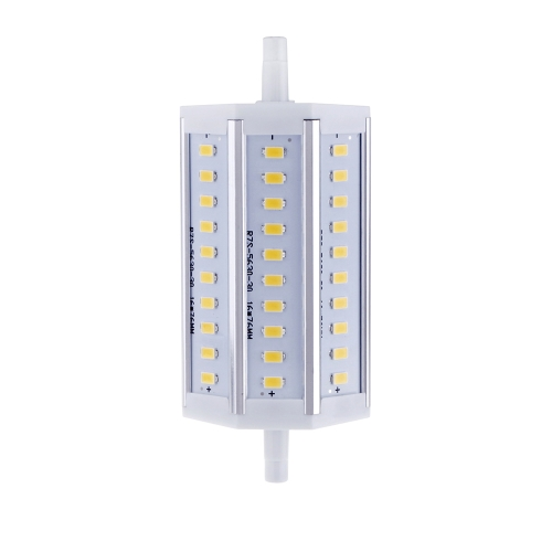 R7S 10W 30 LEDs 5630 SMD Energy Saving Light Bulb Lamp 118mm Warm White 100-240V Replace Halogen Floodlight