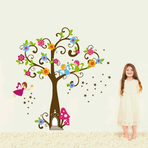 Colorful Magic Tree Blossom Removable Wall Stickers DIY Wallpaper Mural