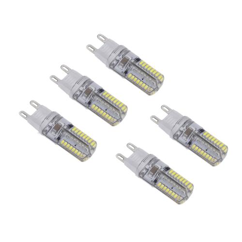 5 x Mini G9 de LED 3W 3014 SMD 64 Leds cristal maíz bombilla lámpara ahorro grado 360 blanco 220-240V
