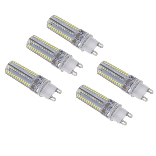 5pcs Mini G9 LED Light 5W 3014 SMD 104 Leds Crystal Corn Bulb Lamp Energy Saving White 360 Degree 220-240V