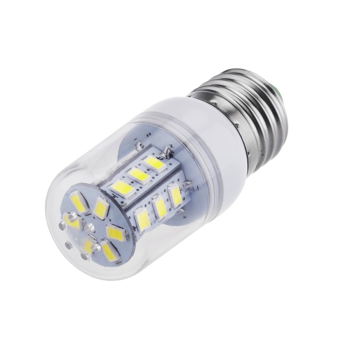 220V E27 5W 5730 de 24 SMD LED maíz bombilla lámpara 360degree blanco 220-240V