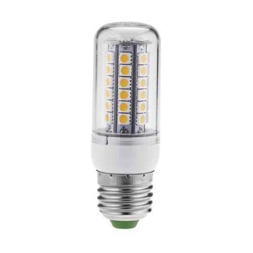 Свет LED кукуруза 7W E27 5050 SMD лампа освещения 48 Leds энергосберегающие 360 градусов теплый белый 220-240V