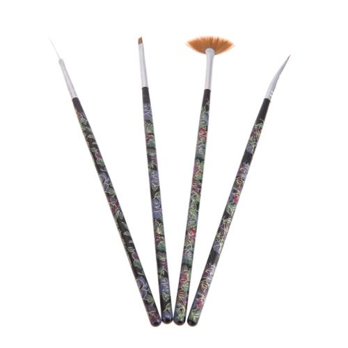 4ST Nagel Art Design Malerei Tool Pen, den polnischen Brush Kit DIY Profiset