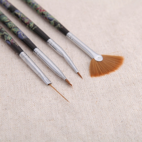 4pcs Nail Art Design Painting Tool Pen Polish Brush Set Kit DIY Professional