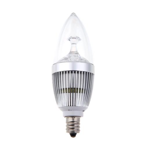 E14 3W Светодиодные Люстра канделябры лампа свеча высокой мощности белый 85-265V