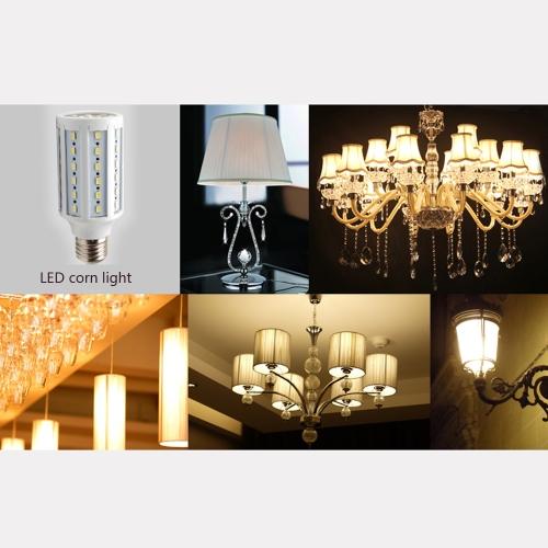 Économie d'énergie 132 LED E27 30W 5630 SMD maïs lampe ampoule 360 degrés blanc 200-230V