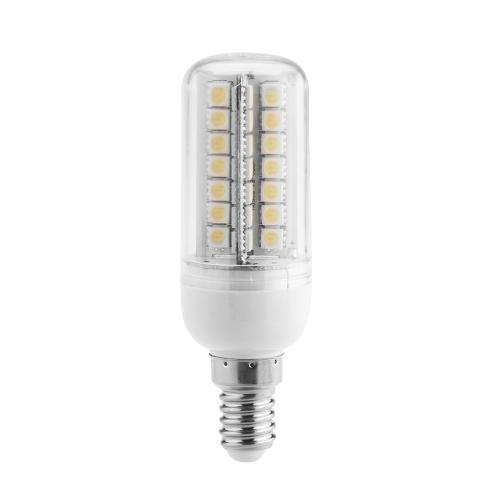 E14 7W 5050 SMD 56 LEDs Energy Saving Corn Light  Lamp Bulb 360 Degree Warm White 200-230V