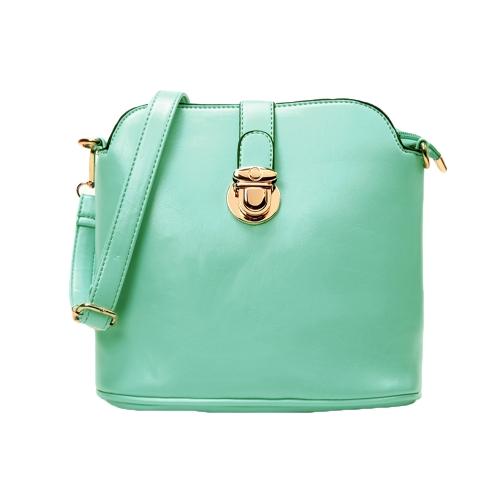 Uus mood naiste õlakotte PU nahk kommid värvi Crossbody kotid roheline