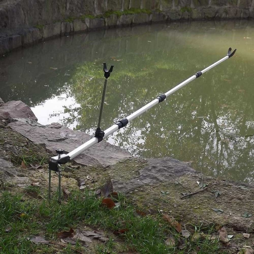 Lixada Sostenedor Soporte Caña de Pescar Ajustable Telescópico Herramienta de Pesca Aleación de Aluminio 137CM