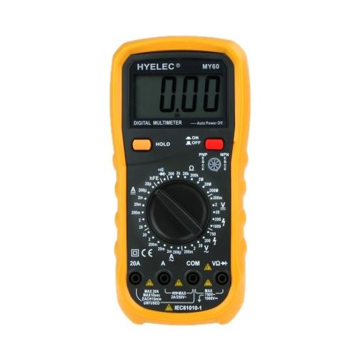 PEAKMETER MY60 Digital Multimeter AC/DC Voltage Current Resistance Tester