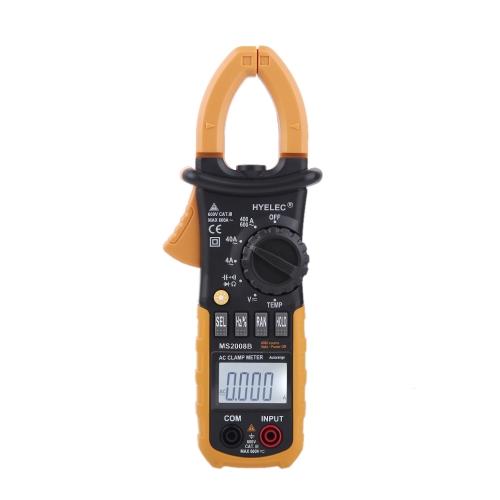 PEAKMETER MS2008B Digital AC Clamp Meter 4000 Counts w/ Back light