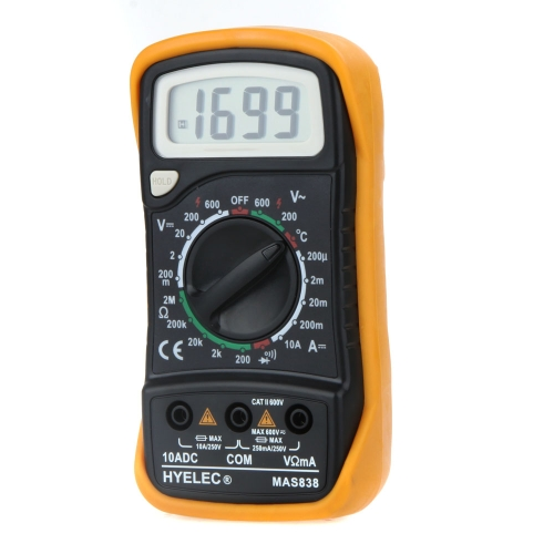 HYELEC MAS838 Multifunction Mini Digital Multimeter/Temperature Test