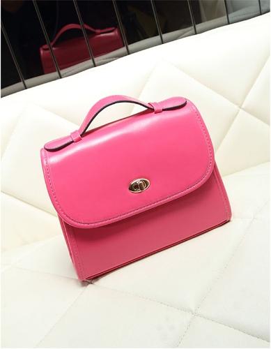 Nuevo Color de caramelo dulce mujer bandolera Twist Lock moda bolso Messenger Bag rosa