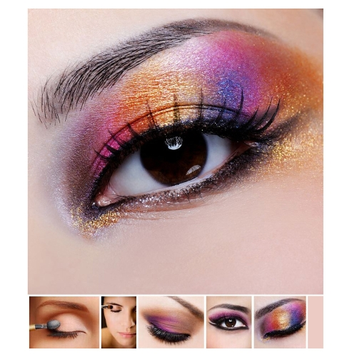 Professional 228 Color 3 layer Makeup Palette 168 Eye Shadow 60 Lipstick Cosmetic Set