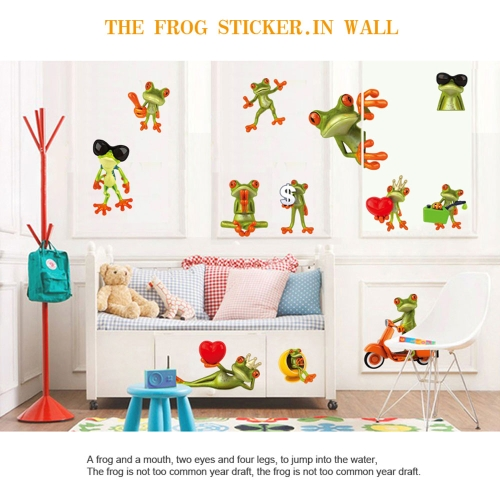 Cartoon Funny Humorous Frog Big Eye Removable Wall Stickers DIY Kid's Child Room Decor Decal