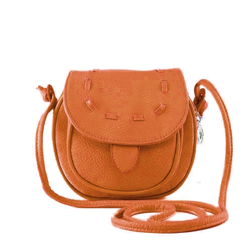 Nueva moda mujer bandolera Mini PU cuero Messenger bandolera lazo bolso marrón