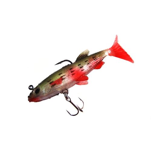 5pcs 8.5cm 14g weiche Köder Angelköder Bleikopf Bass Fishing Tackle Scharfer Haken T Schwanz Bunte