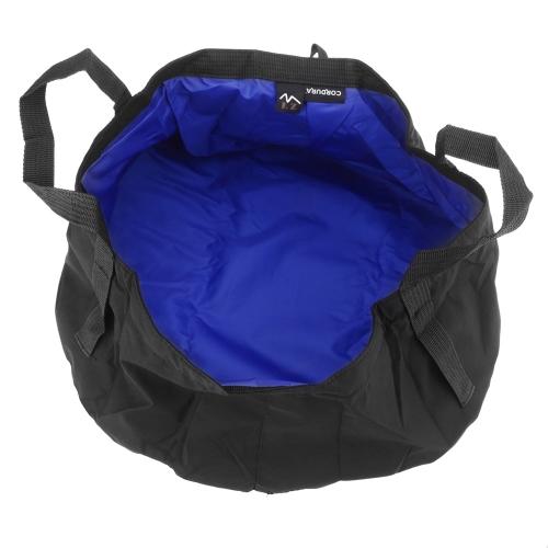 8.5L Outdoor Ultra-leggera Catinella pieghevole Pacco da lavare portatile di Nylon Bagno dei piedi Asciuga rapidamente Campeggio Picnic Pesca Blu