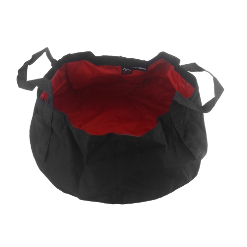 8.5L Outdoor Foldable Ultra-light Water Washbasin Portable Nylon Wash Bag Foot Bath Quick Dry Camping Picnic Fishing Red