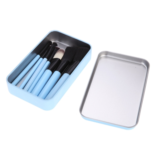 7pcs Makeup Brushes Set Makeup Tools Cosmetic Brush Kit with Metal Box