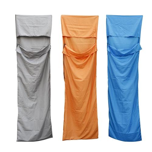 Ultra-light Single Polyester Pongee Healthy Sleeping Bag Liner Portable Camping Travel Sleeping Bag Grey